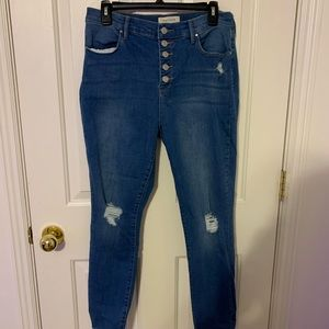 Pacsun High Rise Ankle Jeans